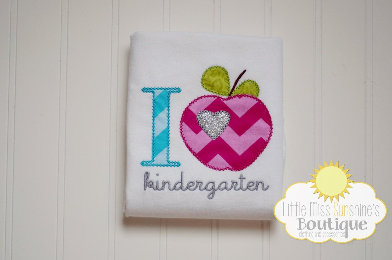 I Love Kindergarten Shirt, Back to School Shirt - LittleMissSunshinesB