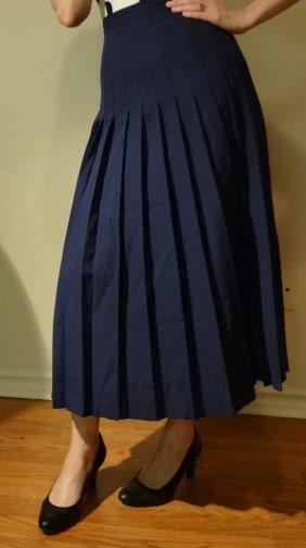 items similar to sale navy school pleated skirt