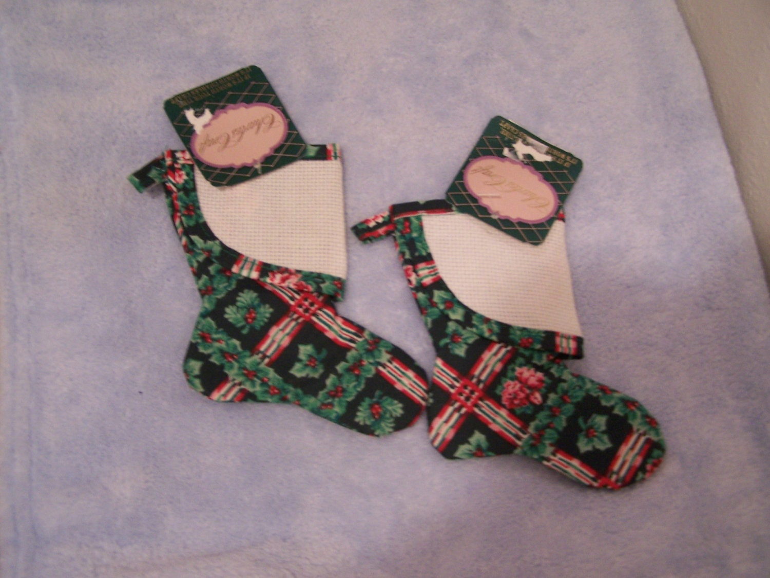 Cross stitch christmas stocking mini or by paperjoyboutique for Charles craft christmas stockings