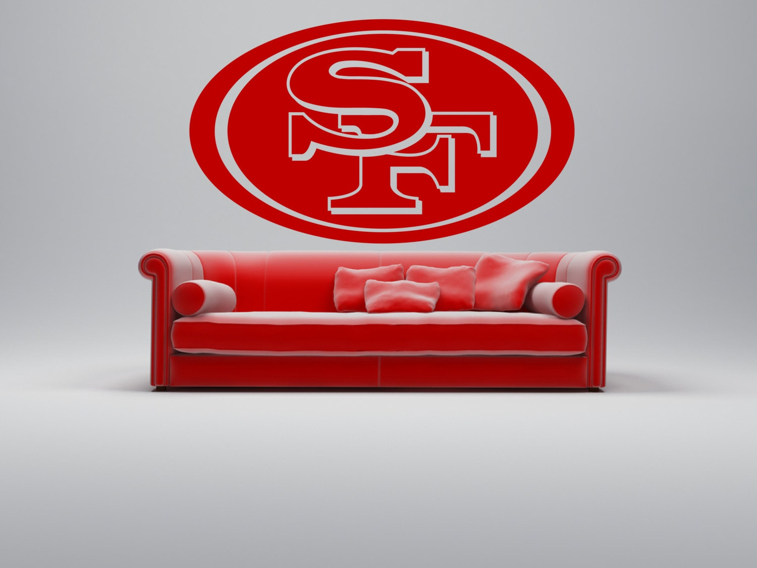 Removable san francisco 49ers football team wall art by for 49ers wall mural