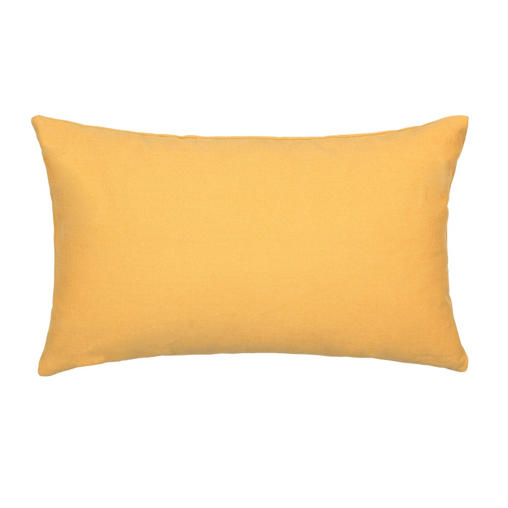 Throw Pillows 20 X 12 Yellow : 12 X 20 Solid Yellow Mustard Rectangular Oblong Throw by BHDecor