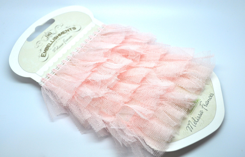 1 yard organza pouf ribbon - pink - trim - papercraft - diy - melissa frances - emmyandsoph