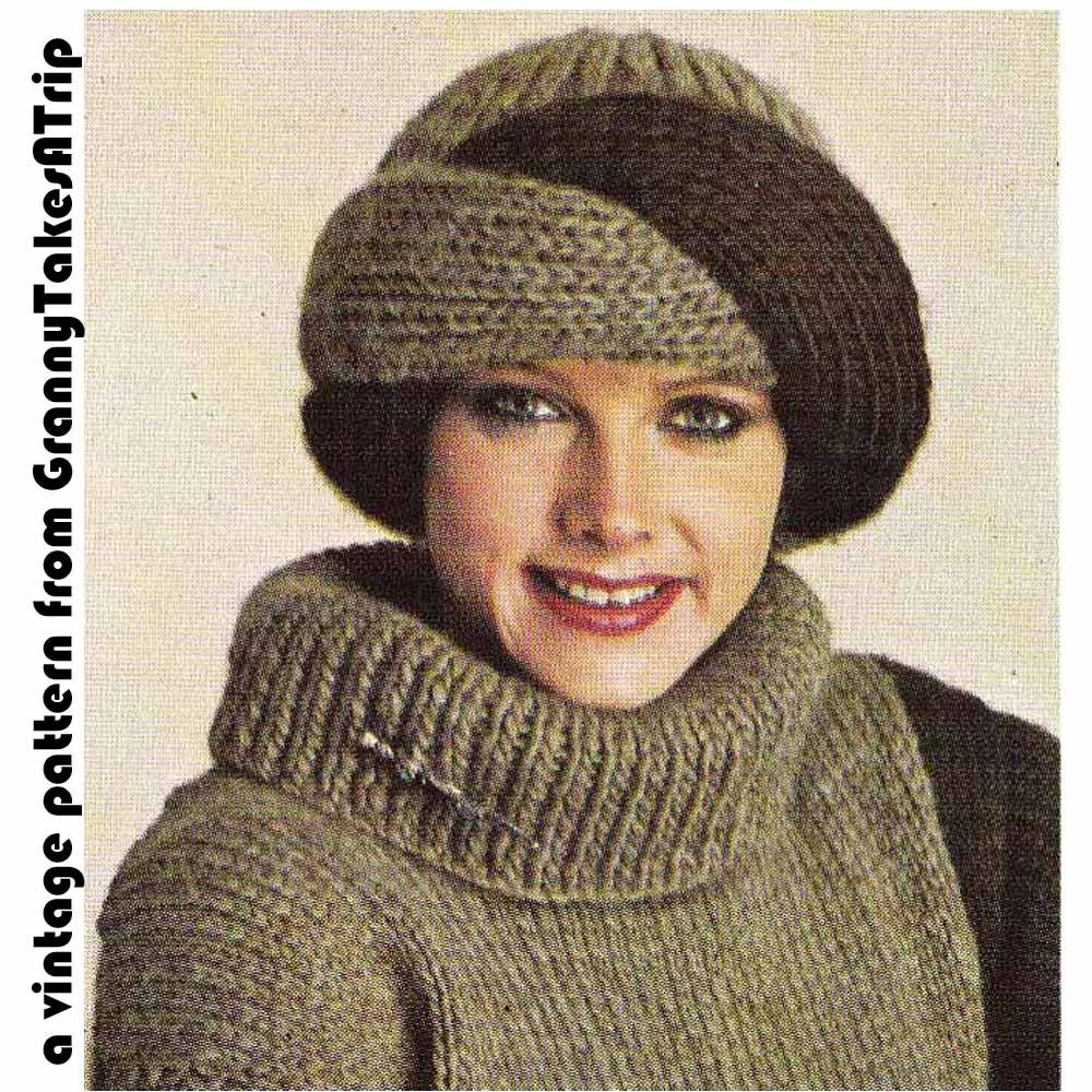 Knitting Pattern Vintage Hat : 1970s/80s Vintage Knitting PatternTURBAN STYLE by ...