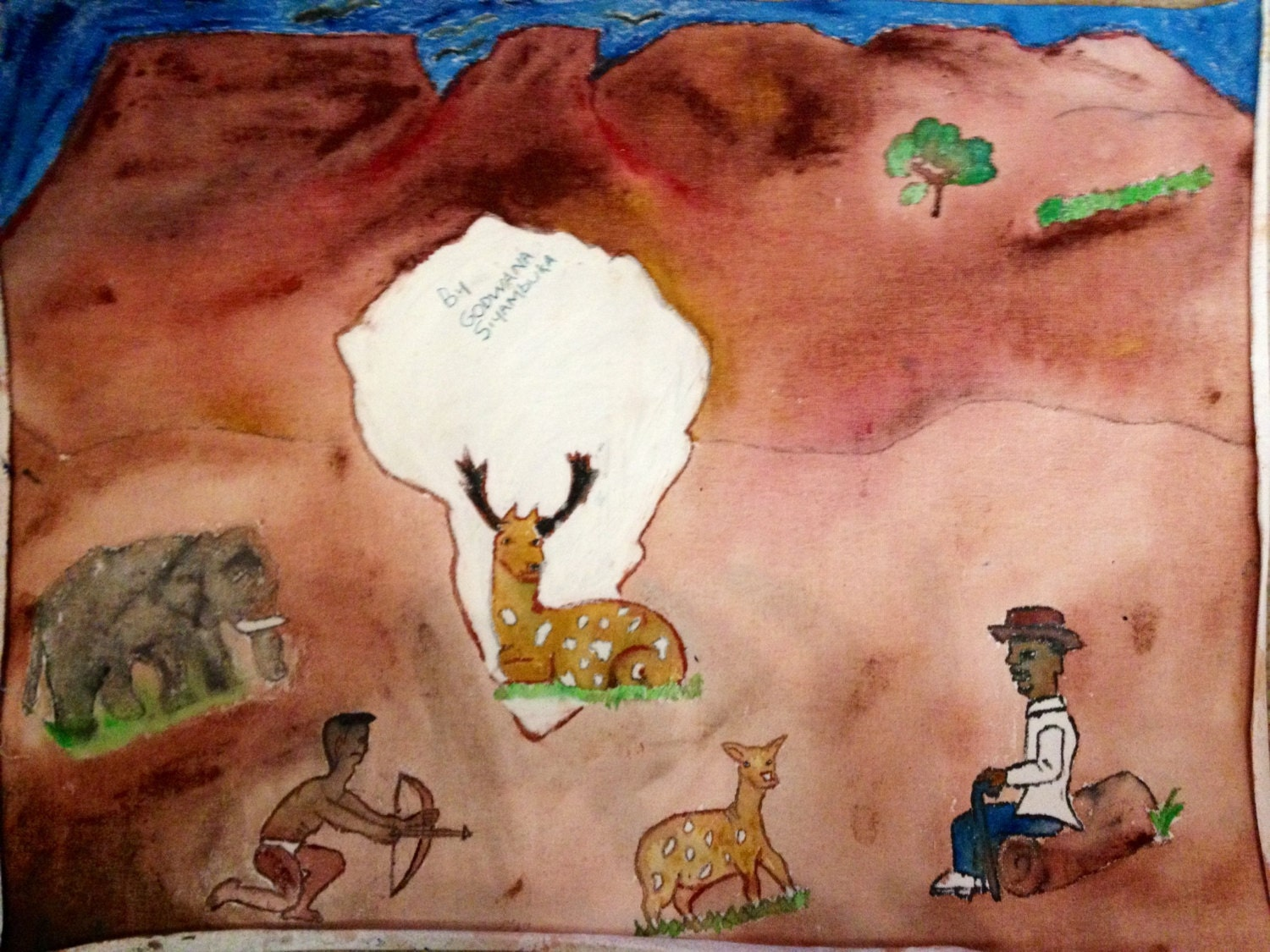 Original painting by a South African Child - LovetoLanga