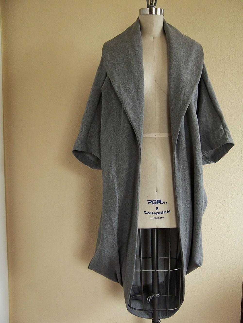 Heather Gray Cocoon Coat XS/S