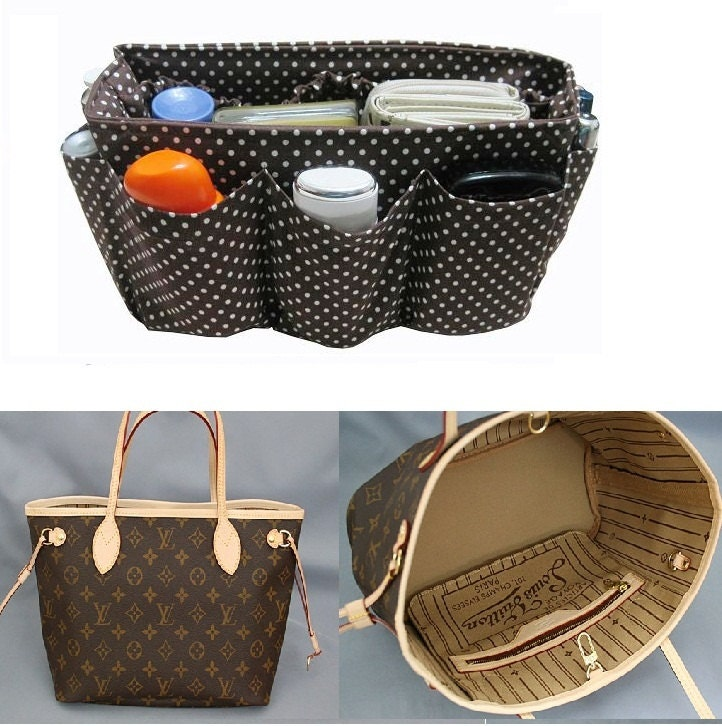 purse organizer for louis vuitton neverfull pm    made to by obuyme