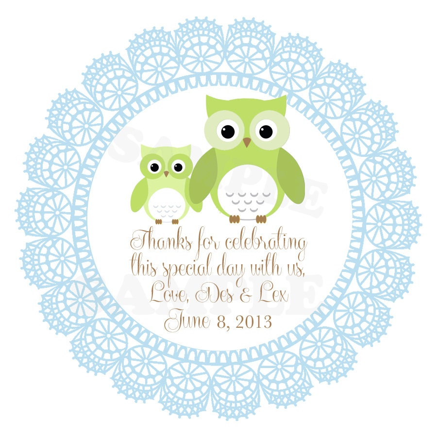 Baby Shower Gift Tags Printable Free: Items Similar To Cute Personalized Baby Shower, Baptism