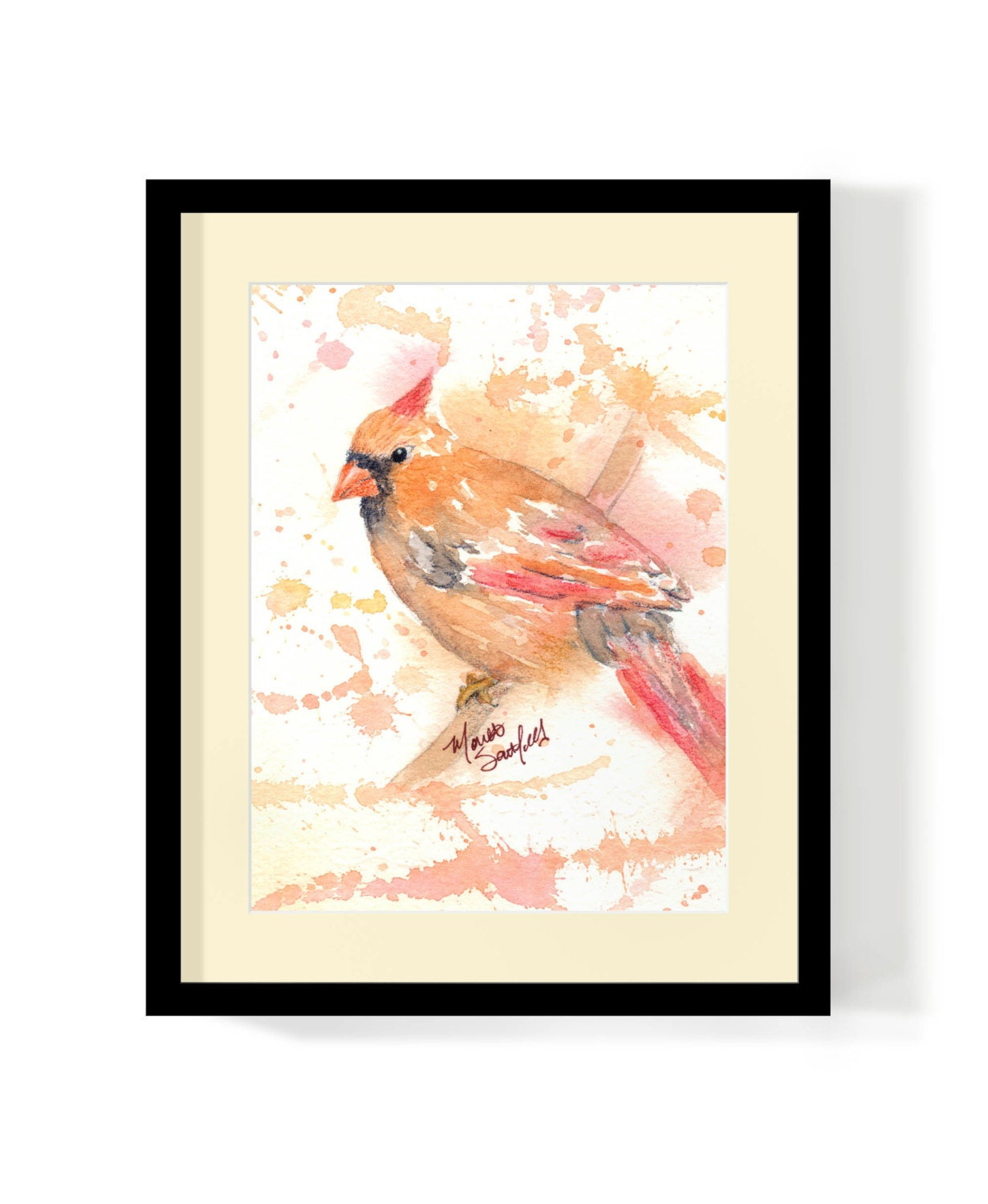 <a href=https://www.etsy.com/listing/165016900/watercolor-female-cardinal-original-art?ref=rss target=_blank >Watercolor Female Cardinal - Original Art Print - 5 x 7 - Archival Quality - Free Shipping by ShinyDesigns</a>