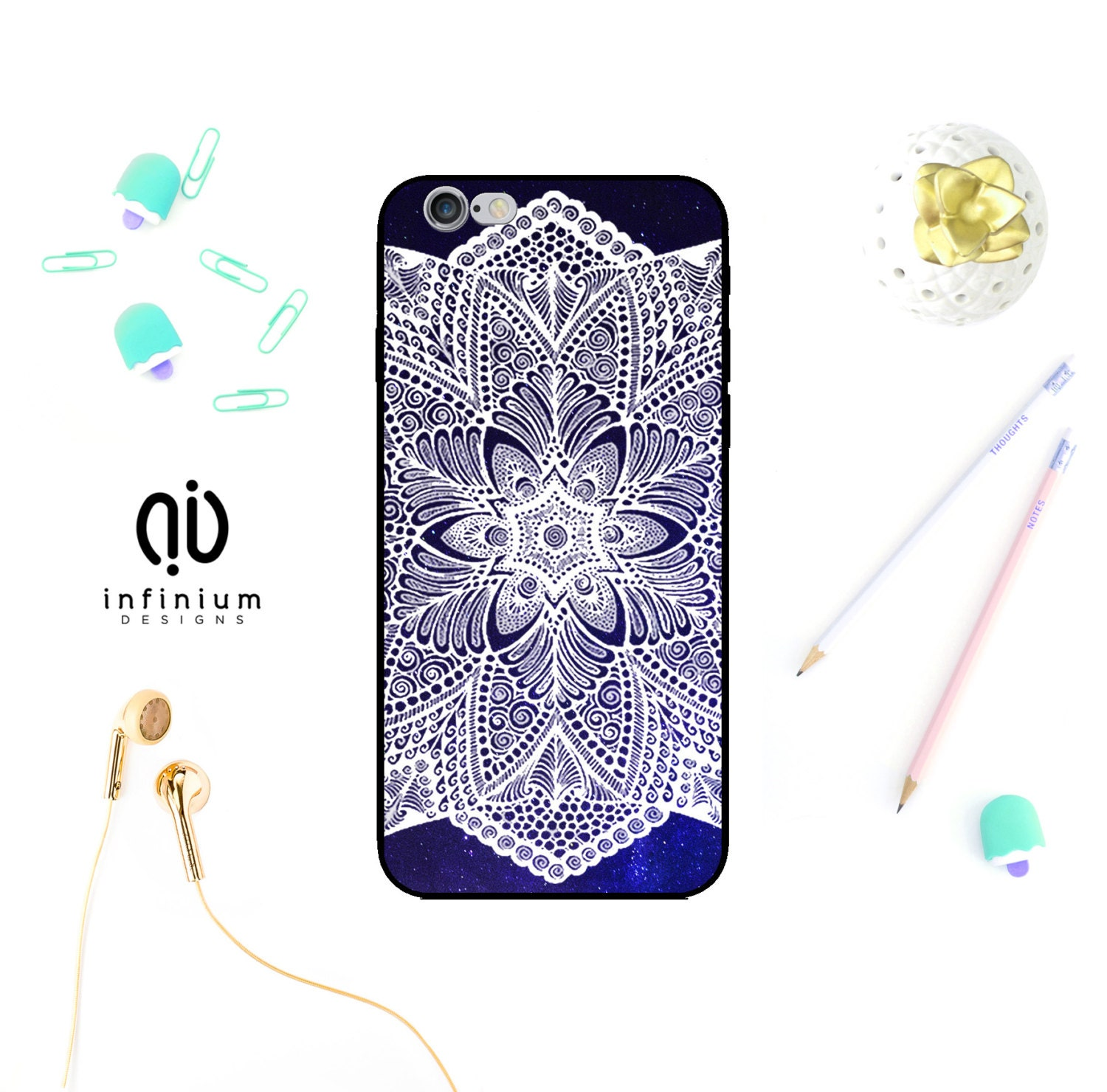 Cosmic Mandala Case For iPhone 6S Samsung S7 S7 Edge S6 S6 Edge Galaxy A5 Galaxy A3 Core Prime iPhone 7 7 Plus SE 5S  Touch 6