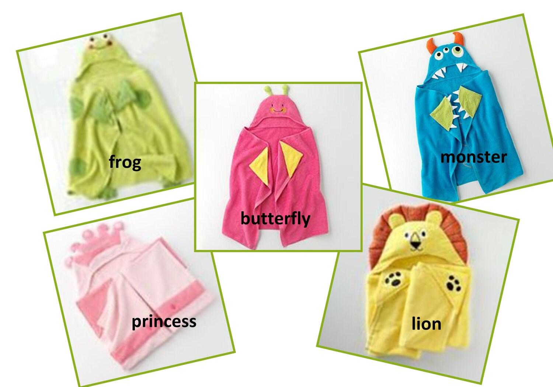 on sale personalized hooded bath towels by stardesignsstudio. Black Bedroom Furniture Sets. Home Design Ideas