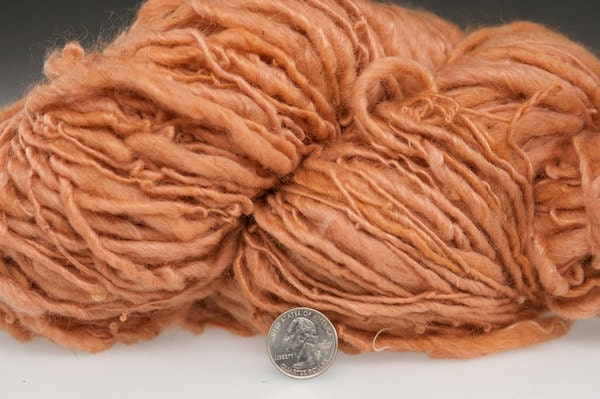 Singularities 102 Madder root mohair and wool yarn eco friendly naturally dyed 128 yards - girlwithasword