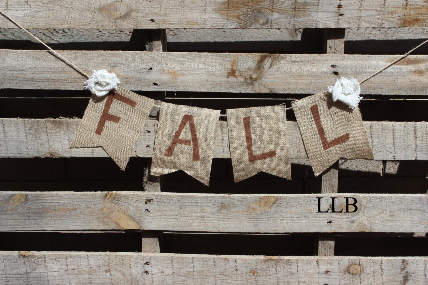 FALL burlap bunting- Photo prop- fall banner-  burlap bunting- fall decoration - LureeLaneBoutique
