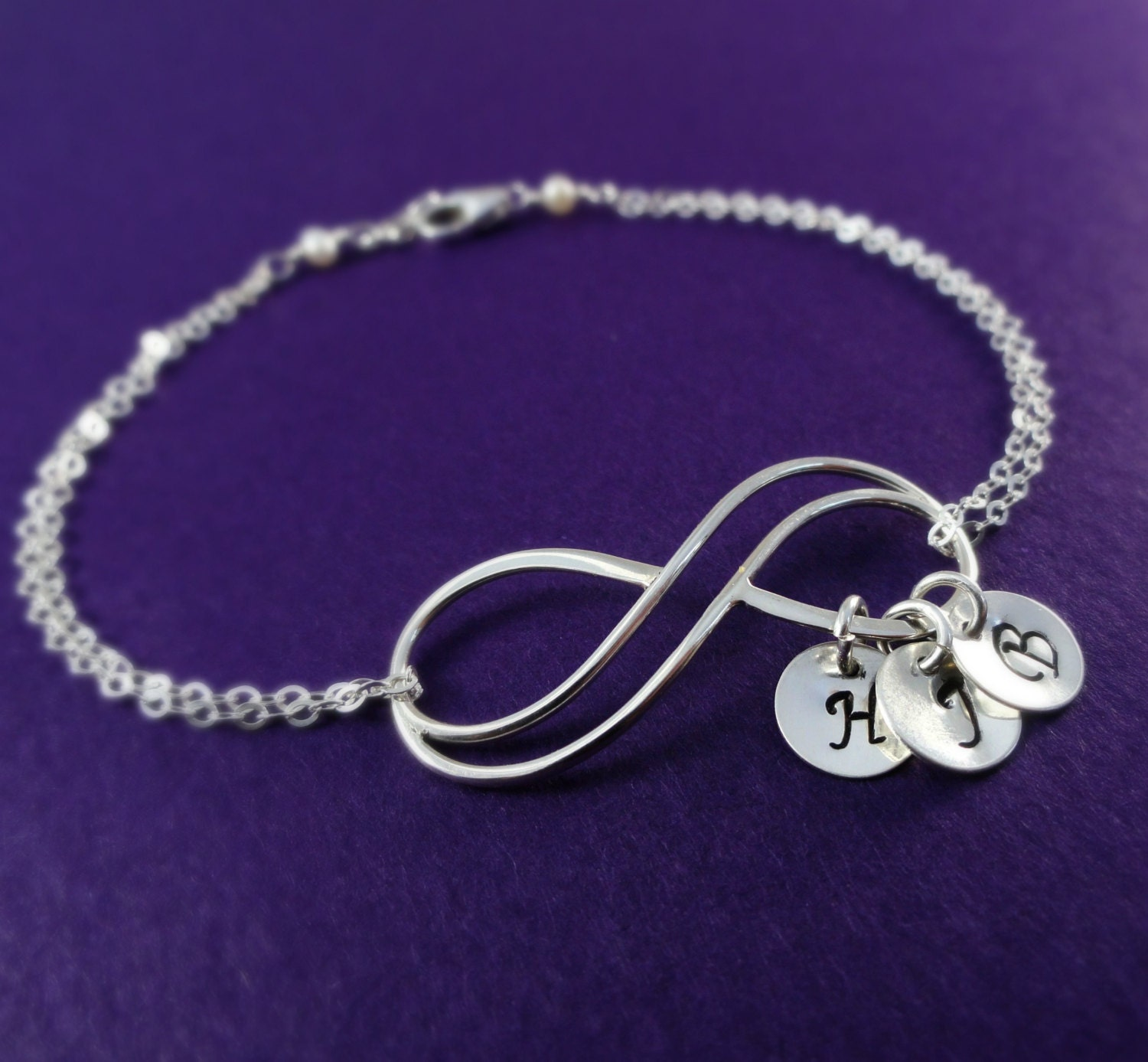 personalized infinity bracelet with initials by briguysgirls