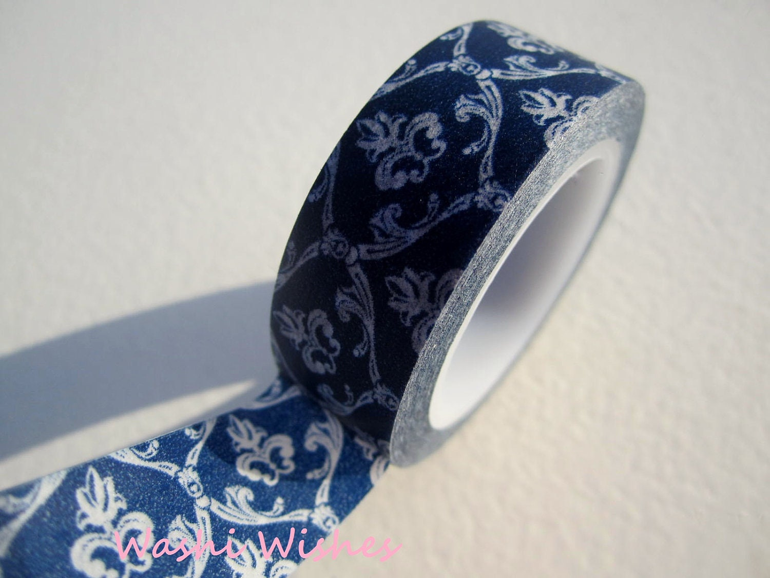 Japanese Washi Tape in Royal Blue Damask