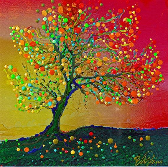Singing Angel Tree Giclee Print