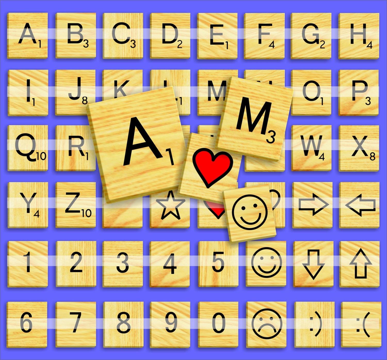 Scrabble letters d