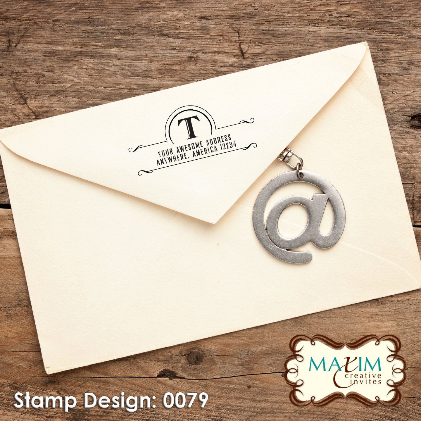 Wood handle rubber stamp address stamp by maximcreativeinvites - Return gifts for housewarming function ...