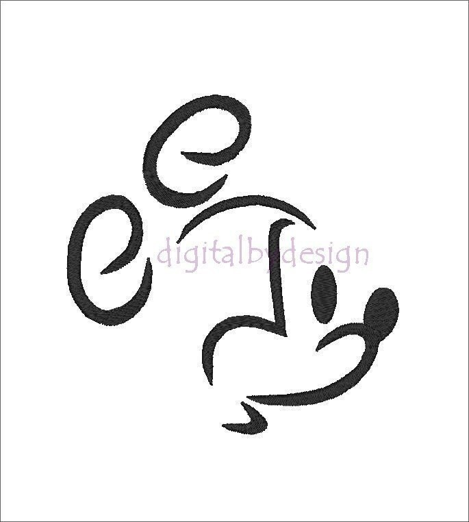 items similar to mickey mouse outline profile head