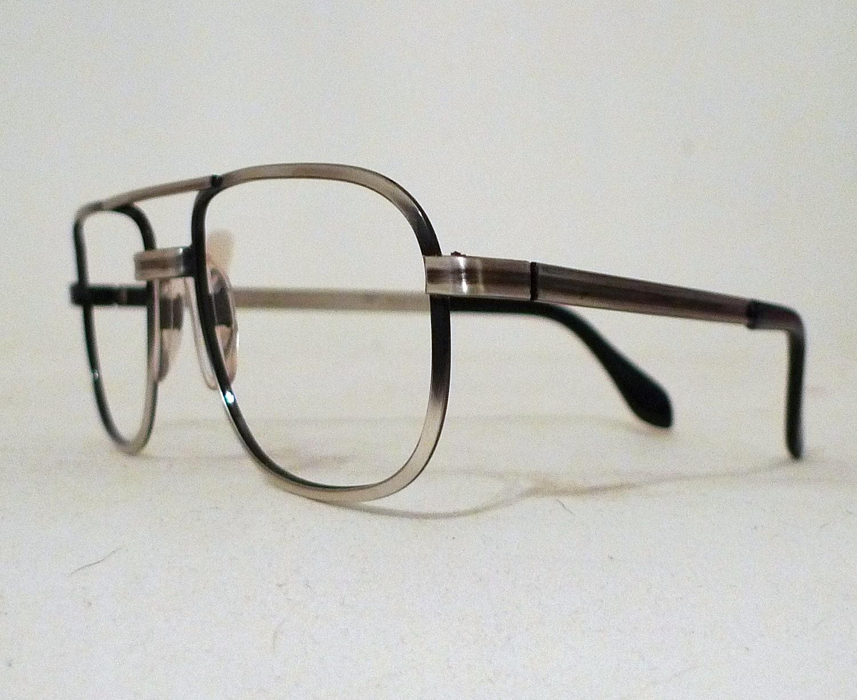 Aviator Eyeglasses Frame : NOS Big Aviator Eyeglasses Frames / Hip Hop Frames by ...