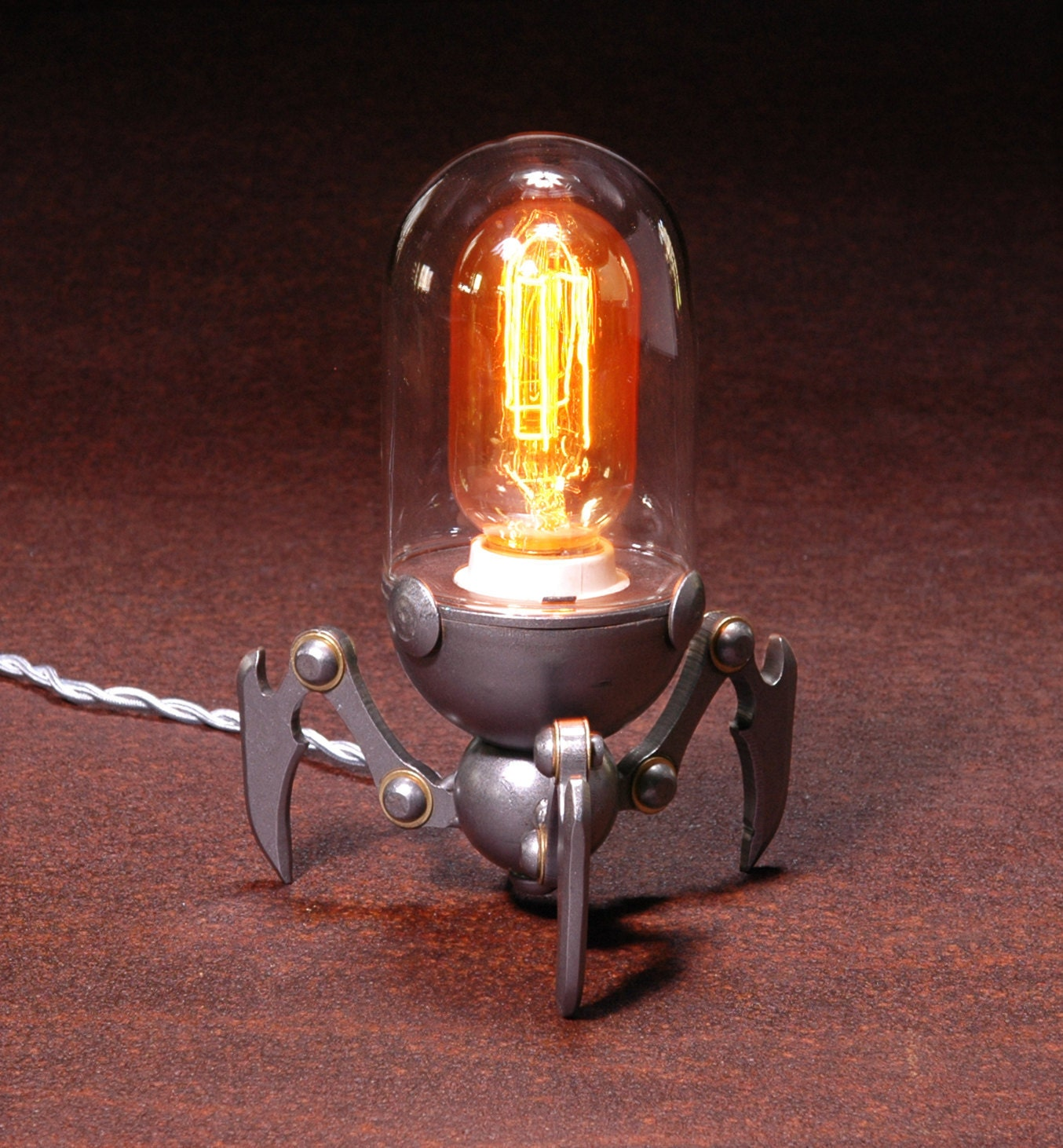 Tri-Bot Steampunk Lamp - IronAntlerForge