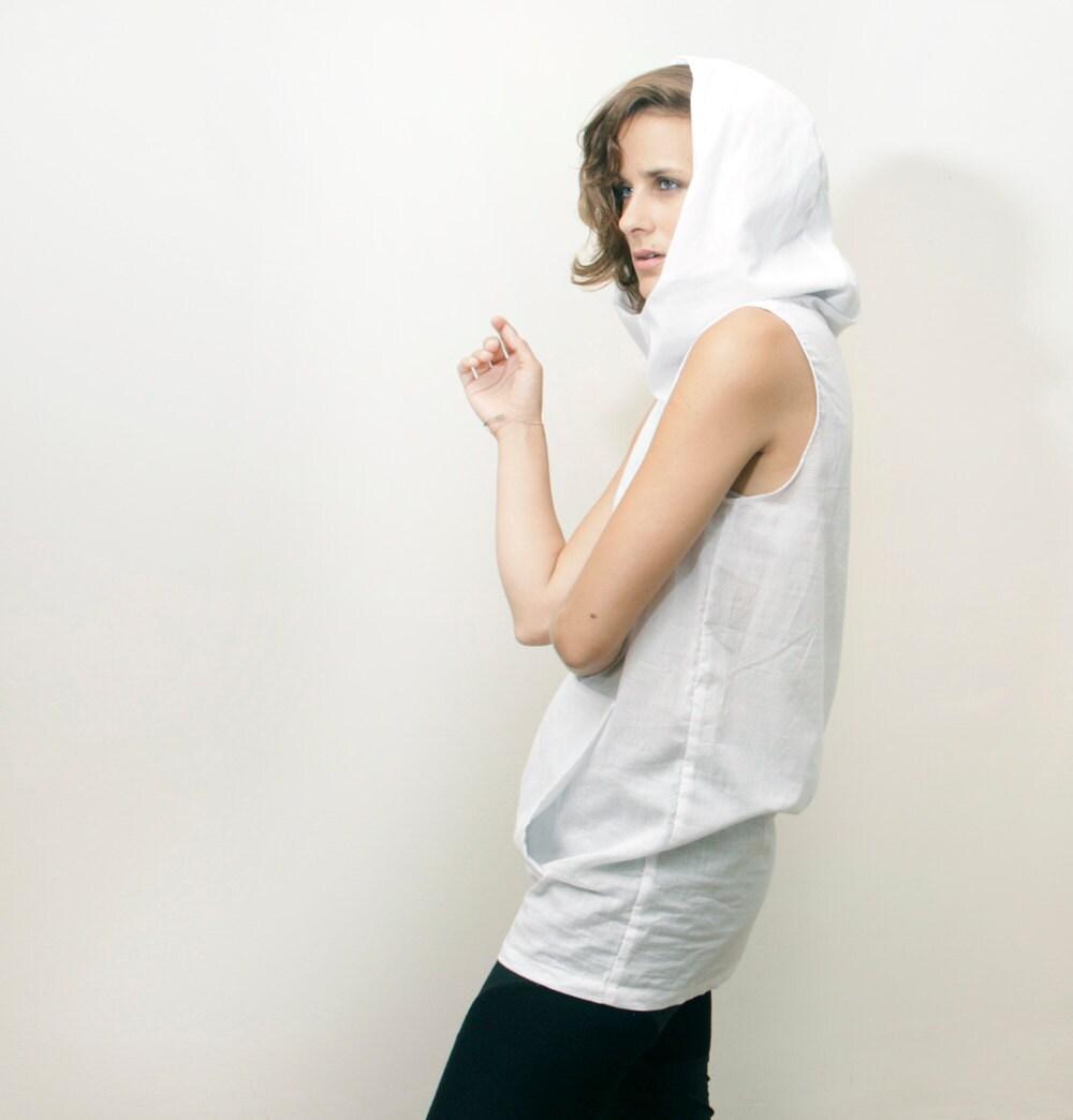 White Summer Shirt Women S Tunic Sleeveless Shirt White