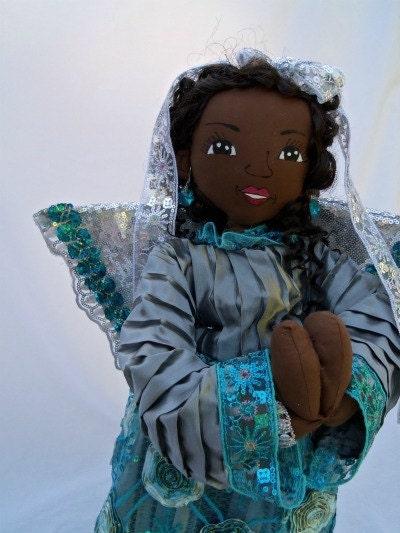 Handmade ooak art cloth doll -African American