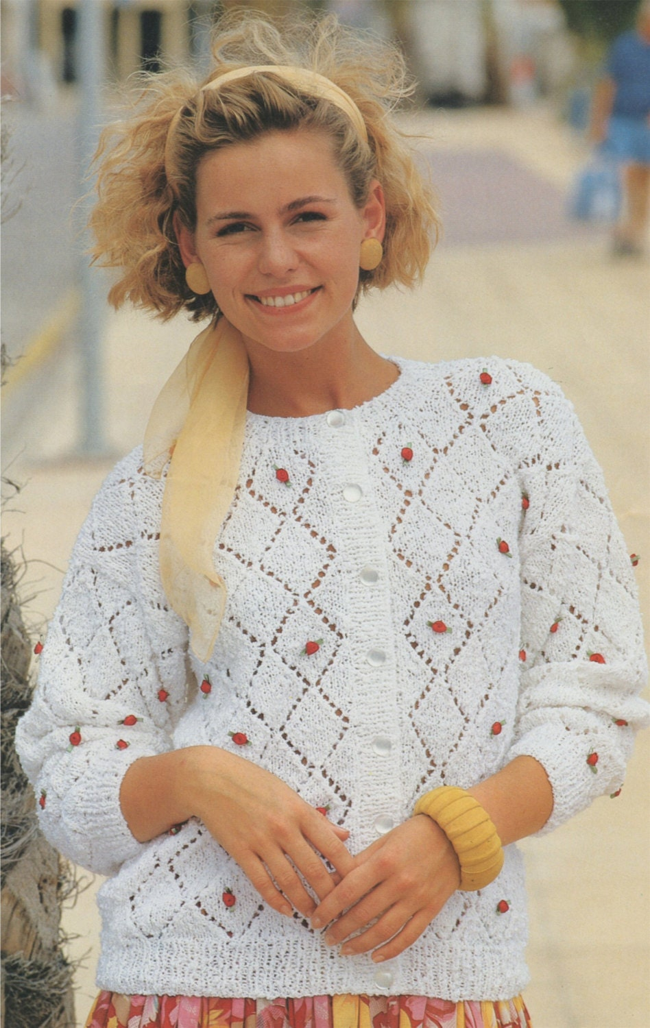 Womens Cardigan PDF Knitting Pattern  Ladies 30 32 34 36 38 and 40 inch bust . 76 81 86 91 97 and 102 cm . Instant Download