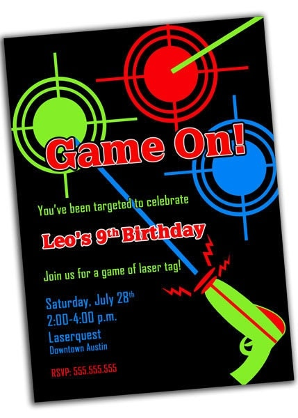 It is an image of Agile Laser Tag Invitations Free Printable