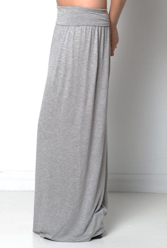 maxi skirt foldover adjustable soft waistband maxi by