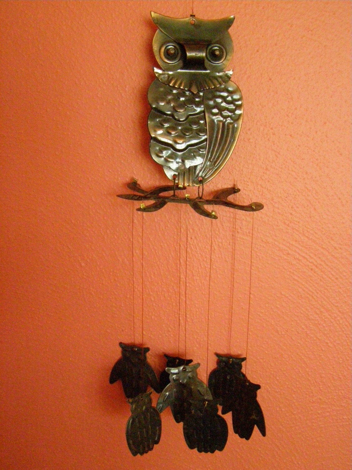 Vintage Metal Owl Wind Chimes By Peanutmm On Etsy