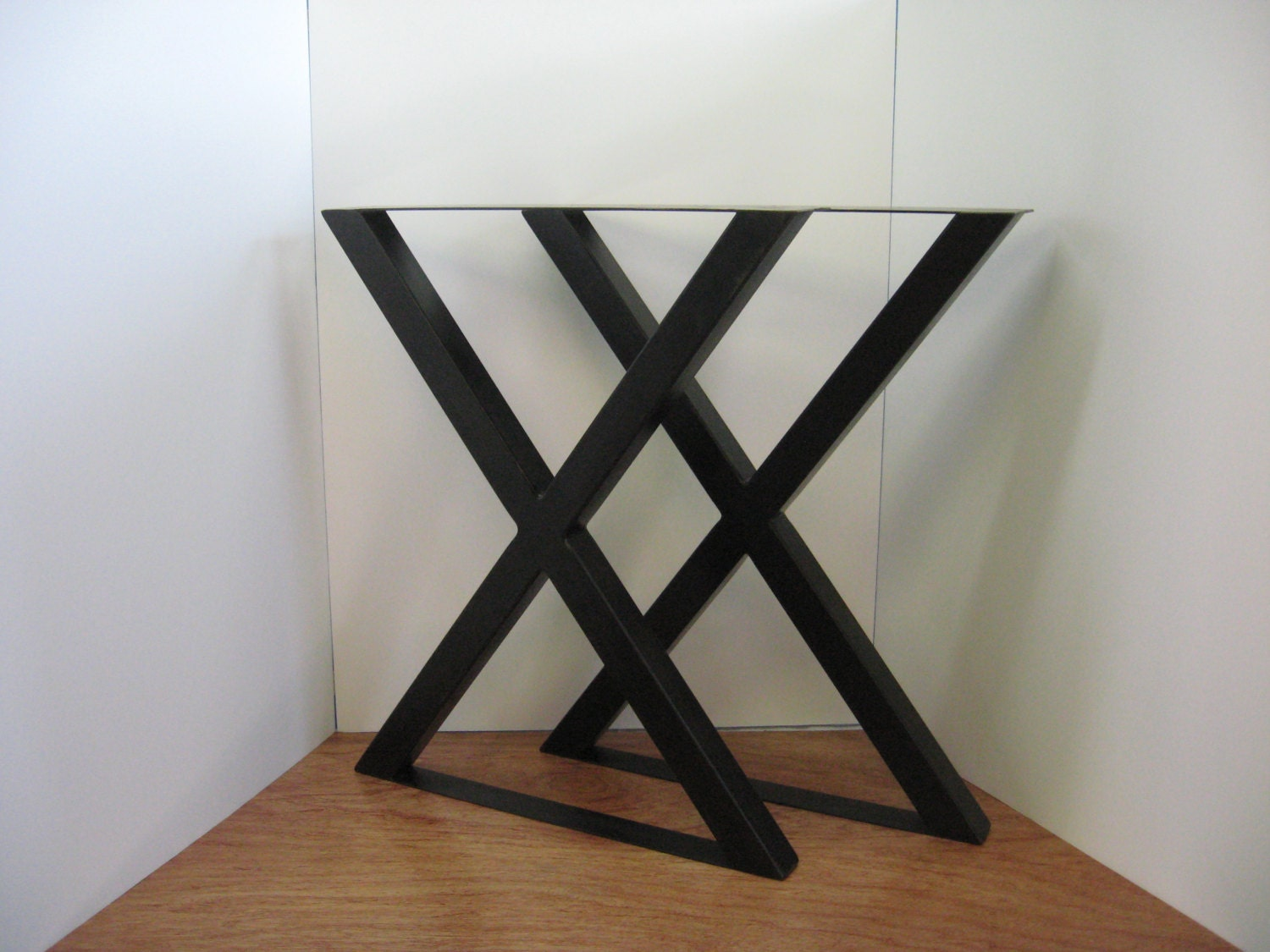x style metal table legs patinated steel with by