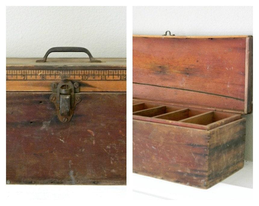 vintage handmade tool box - noodleandlouvintage