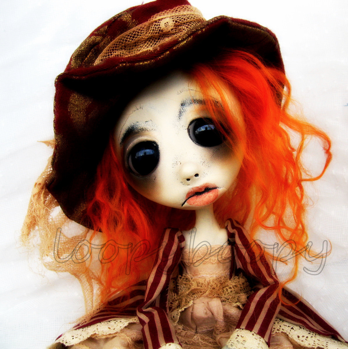 Halloween Witch Art Doll Goth Art Ooak  Giclee Print