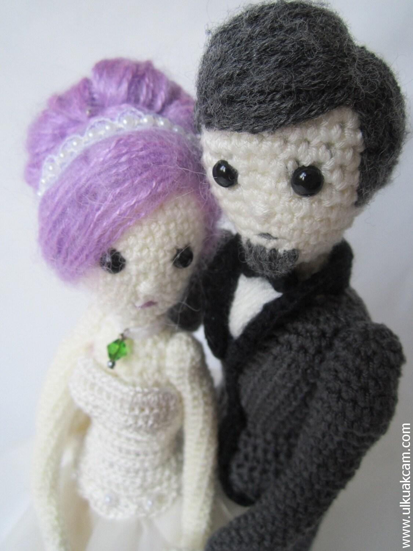 Amigurumi Etsy : Amigurumi 5 ways jointed Wedding Dolls Pattern by Denizmum ...