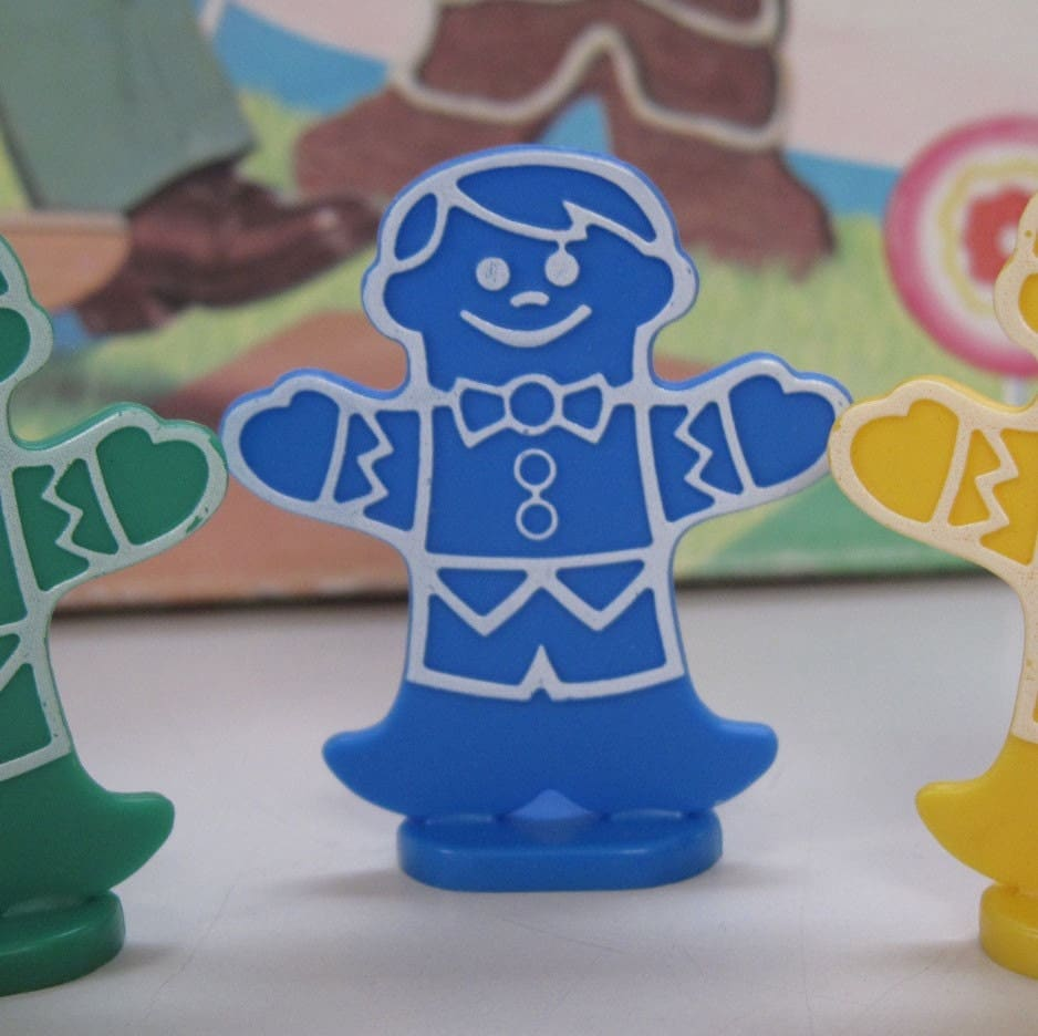 Vintage candyland game pieces set of 3 by betsyoldandnew on etsy