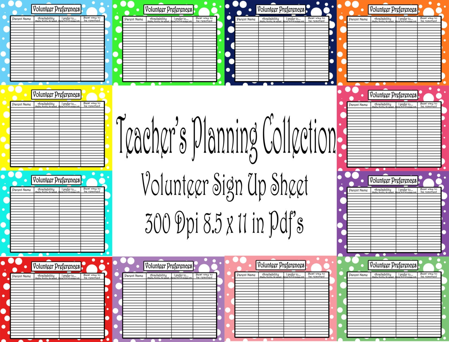 Downloadable Classroom Volunteer Sign Up Sheet Pictures to Pin on – Volunteer Sign Up Sheet Printable