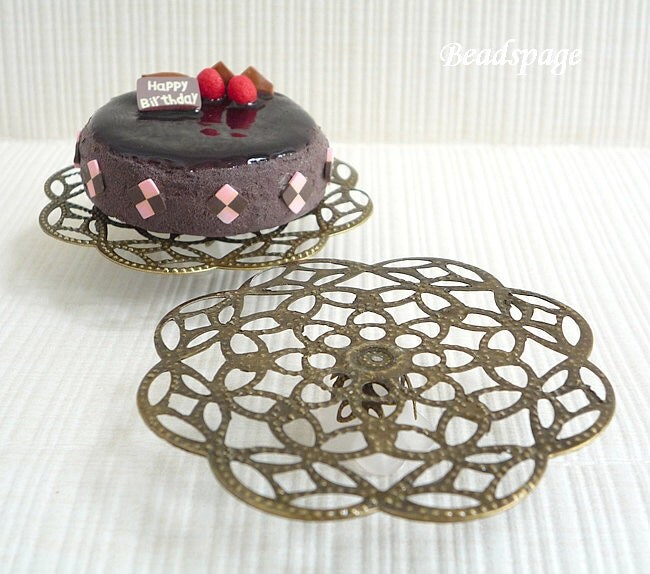 Dollhouse Design Cake : 2 Dollhouse Miniature Cake Display Stand Filigree by BEADSPAGE