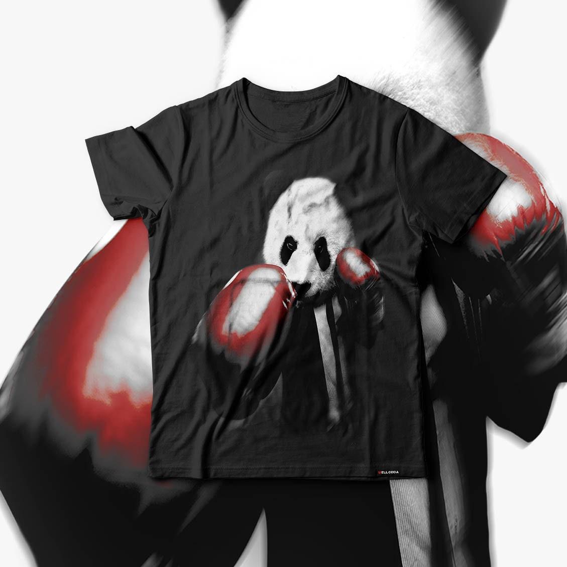 Panda Box Animal Random Fun Men Black Tshirt S5XL NEW  Wellcoda