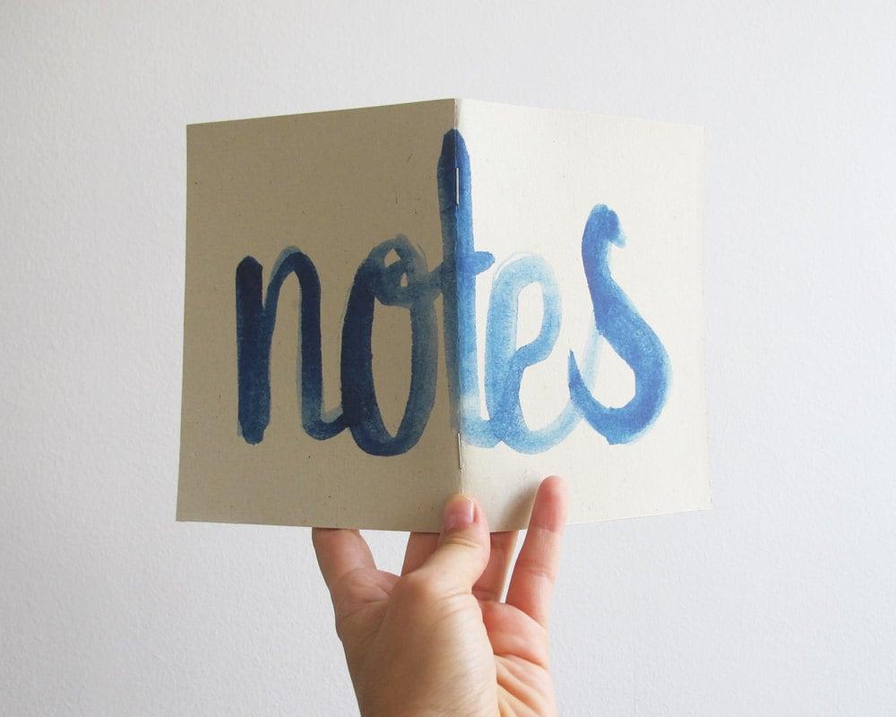 Notes - blue - A6 notebook - 10antemeridiem