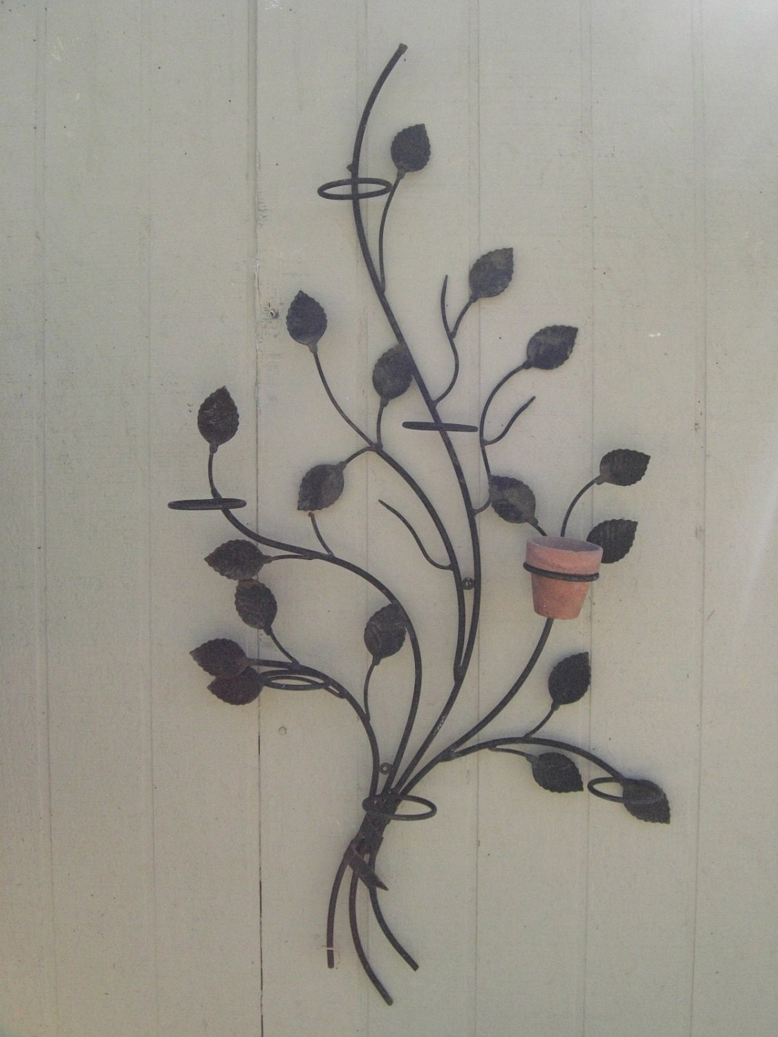 Pretty Metal Wall Art Wall Hanging Plant By Sunnydayrainyday