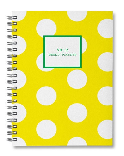 2012 Polka Dot Weekly Planner