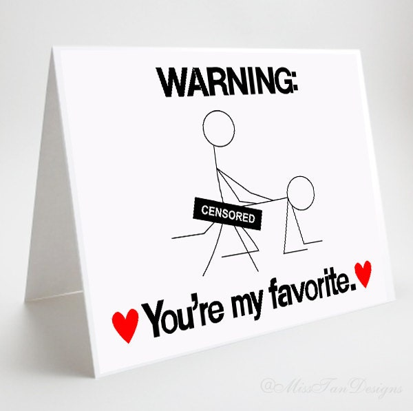 Funny Adult Greeting Card You're My Favorite by MissTanDesigns
