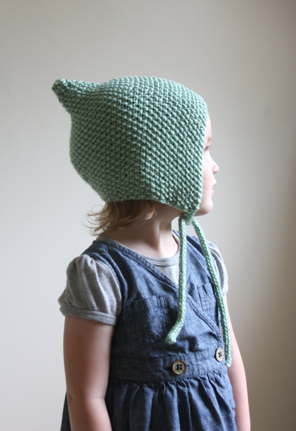 KNITTING PATTERN PDF File Knit Pixie Bonnet by hilaryfrazier