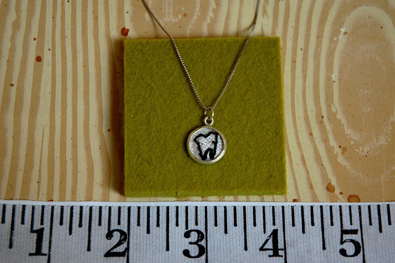 Handmade  Wisdom Tooth  pendant