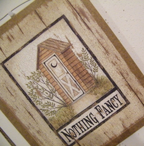 Fancy Bathroom Sign Spivey Country Retro Primitive Bathroom Wall Decor