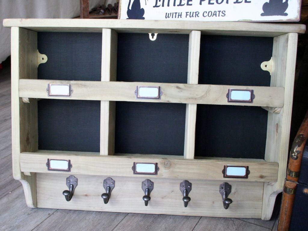 Wooden Box Unit Storage Cubbies Wall Units Coat Hooks Kitchen Utility Unit