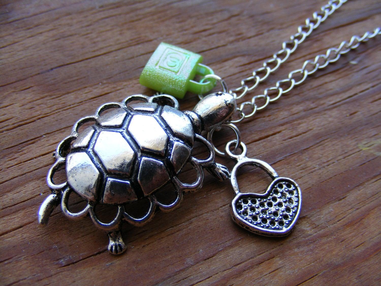 Necklace Tibetan Silver Turtle Love