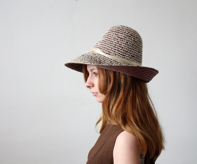 vintage 1960's summer garden hat - 1919vintage