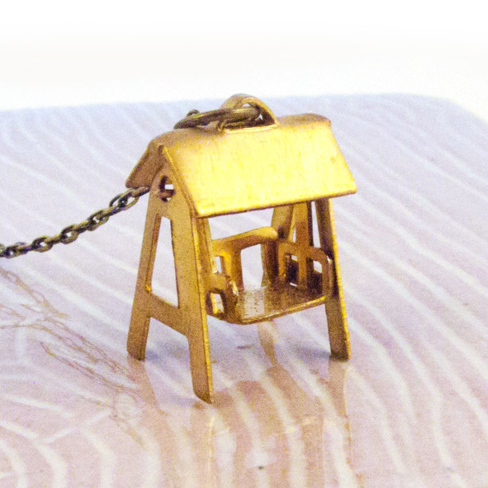 Miniature Vintage Swing Set Charm Necklace by AcornParty ...