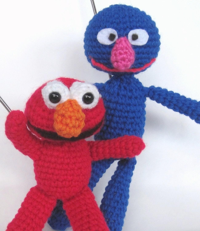 Amigurumi Cookie Monster Free Pattern : Items similar to Crochet Patterns Amigurumi Sesame Street ...